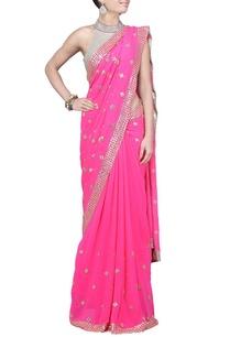 raani-pink-sequin-embellished-sari