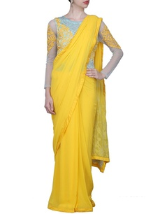 yellow-and-light-blue-motif-embroidered-sari-gown