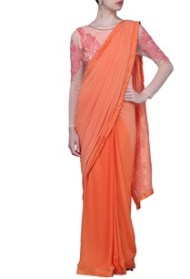coral-motif-embroidered-sari-gown