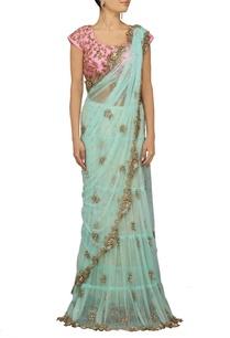 powder-blue-embellished-sari-with-pink-choli