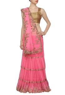 rose-pink-embellished-sari-with-black-choli