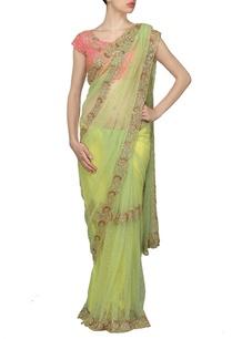light-green-embellished-sari-with-rose-pink-choli
