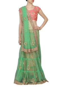jade-green-embroidered-sari-with-rose-pink-choli