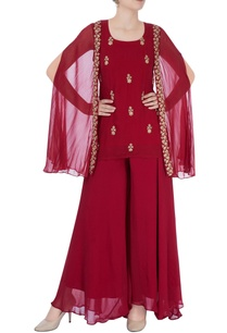 maroon-sharara-set