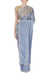 blue-metallic-embroidered-sari