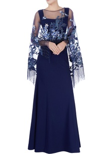 navy-blue-gown-sequin-cape