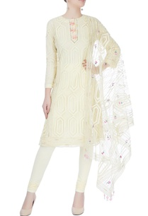 light-yellow-bead-embellished-kurta