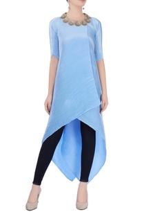 sky-blue-asymmetric-tunic