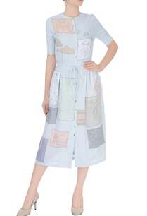 grey-midi-dress-with-printed-doodles