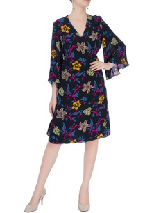 multicolored-floral-midi-dress
