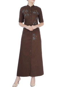 dark-brown-shirt-dress-with-embroidery