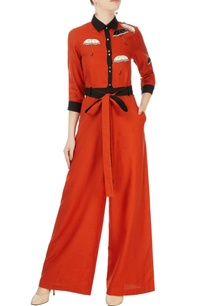 red-black-embellished-jumpsuit