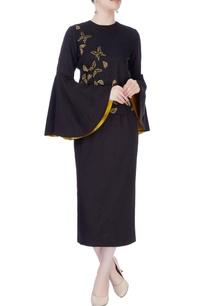 black-embellished-skirt-set