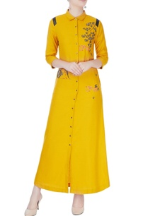 mustard-yellow-shirt-dress