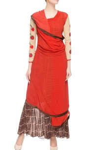red-printed-tunic-dress