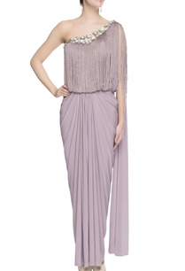 lilac-floral-sequin-work-sari-gown