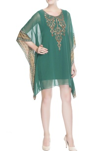 green-sequin-embroidered-kaftan