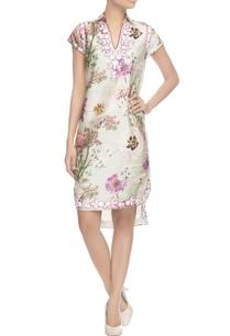grey-floral-dress