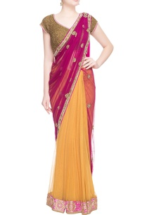 purple-yellow-beadwork-embellished-sari
