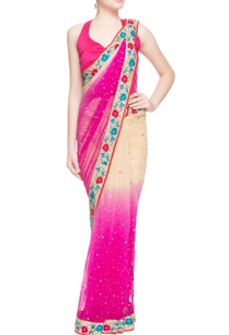 pink-beige-floral-embroidered-sari
