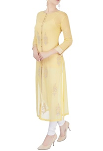 yellow-long-kurta-with-gold-border