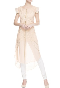 pastel-pink-kurta-with-gold-border
