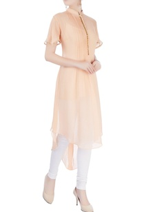 light-orange-asymmetric-kurta