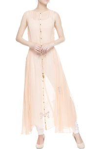 peach-embroidered-kurta-with-drawstrings