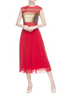 peach-red-embellished-dress