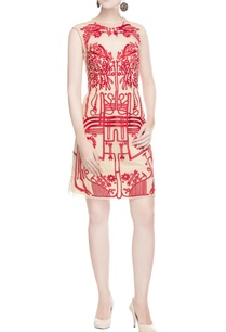 light-beige-dress-with-red-print