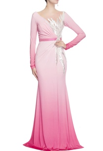 pink-sequin-embellished-gown