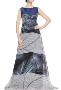 blue-grey-graphic-print-gown