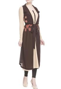 brown-floral-applique-jacket