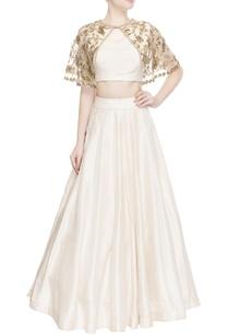 ivory-lehenga-blouse-with-cape