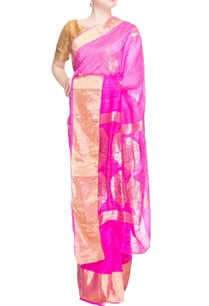 pink-sari-in-gold-pattern-work