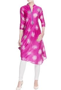 hot-pink-charka-print-kurta
