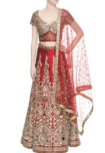 red-sequin-embellished-lehenga