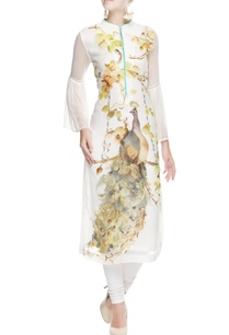 white-tunic-with-bird-printed-motifs