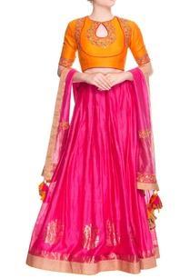 yellow-pink-embroidered-lehenga-set