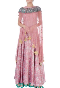 light-pink-lehenga-set-with-cape
