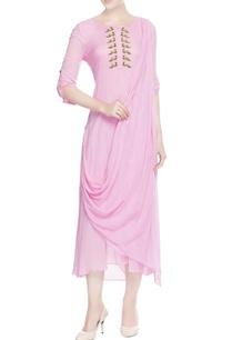 pink-draped-kurta