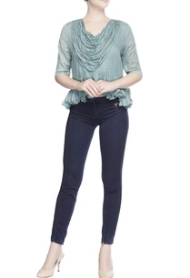 turquoise-blue-cowl-style-top