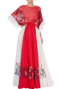 red-white-maxi-dress