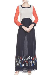 red-navy-blue-long-tunic