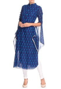 blue-flared-sleeve-kurta