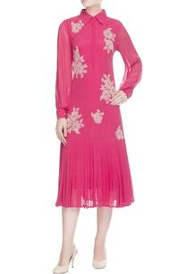 pink-embroidered-shirt-dress