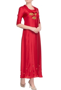 red-cowl-neck-maxi-dress