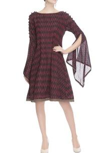 red-black-ikat-print-dress