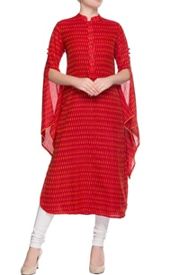 red-printed-kurta