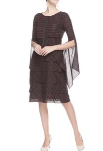 black-ikat-printed-dress